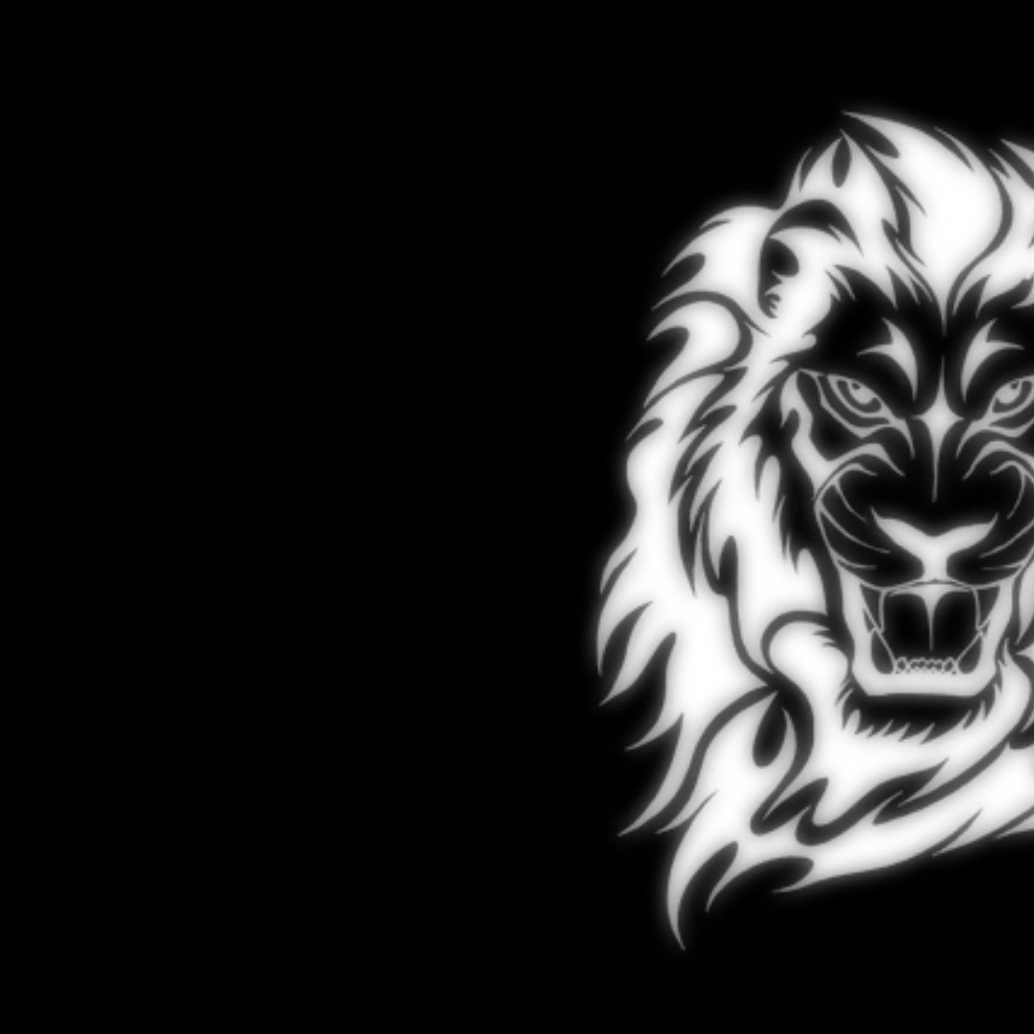 Black And White Lion Hd Wallpaper - Central Valley Lions , HD Wallpaper & Backgrounds