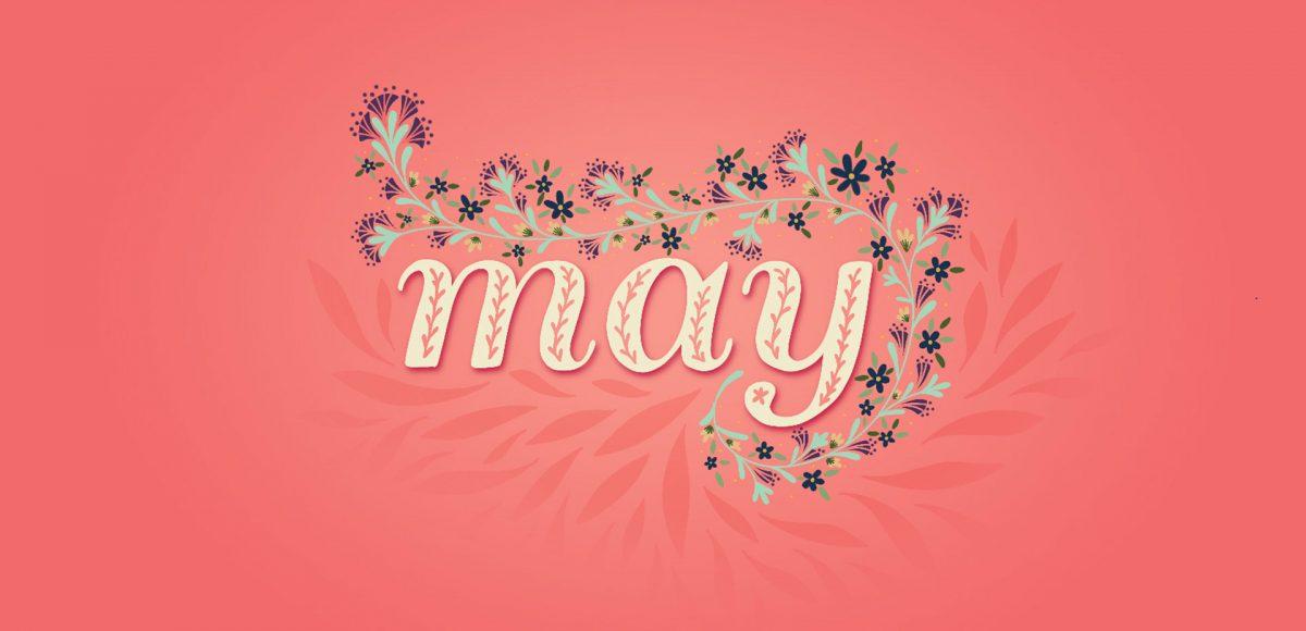 May 2019 Desktop Wallpapers - Calligraphy , HD Wallpaper & Backgrounds