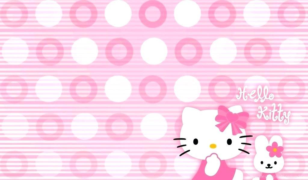 Hello - Hello Kitty Wallpaper Desktop , HD Wallpaper & Backgrounds