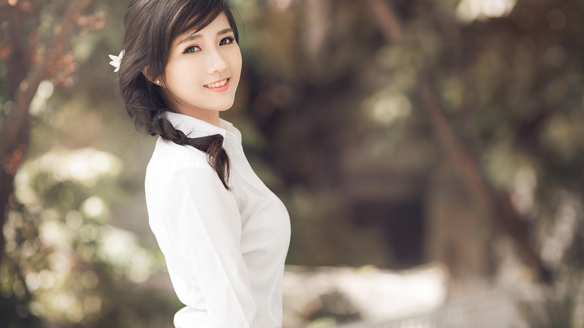 Asian Cute Girl Hd Desktop Wallpaper - Cutest Girl Wallpaper Hd , HD Wallpaper & Backgrounds
