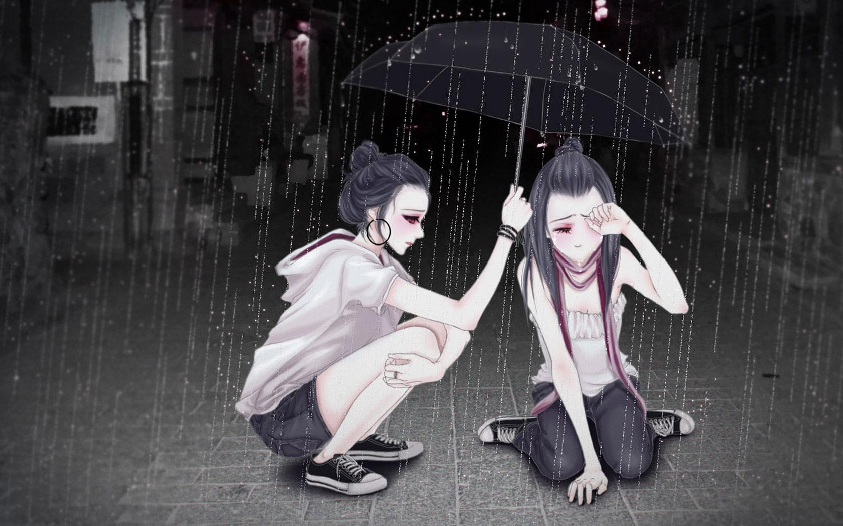 Sad Girl Anime Wallpaper Comics Desktop Background Background Sad Girl Anime 108411 Hd Wallpaper Backgrounds Download
