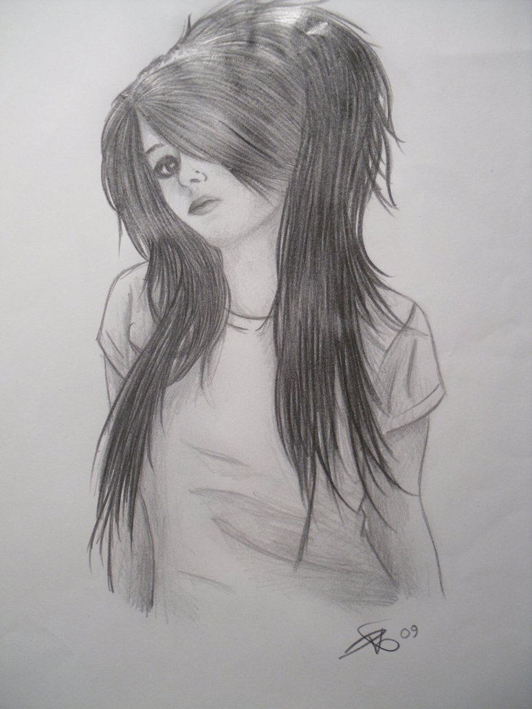 Pencil Sketch Girl Wallpaper Drawing Wallpaper Girl - Pencil Sketches Of Girls , HD Wallpaper & Backgrounds