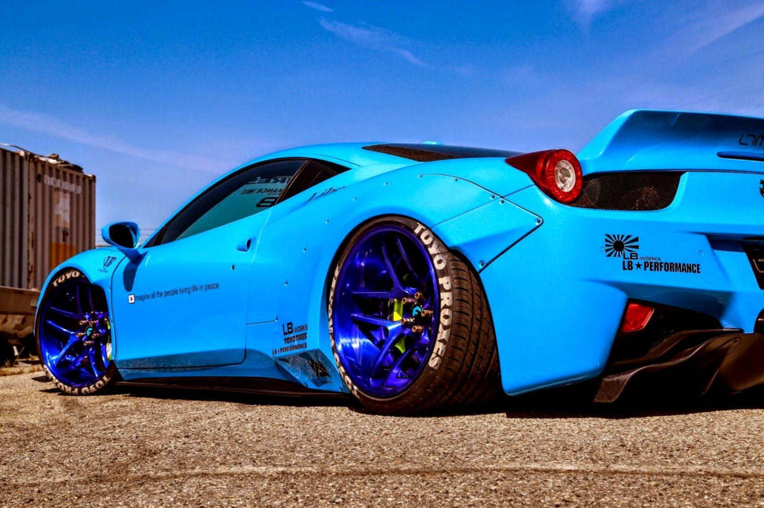 111 Ferrari 458 Italia Hd Wallpapers Background Images Ferrari 458 Liberty Walk Blue 109786 Hd Wallpaper Backgrounds Download
