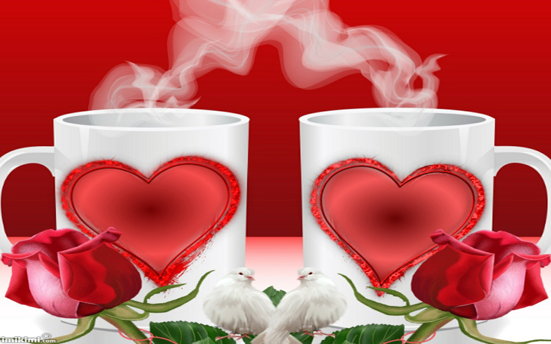 Love Coffee And Rose , HD Wallpaper & Backgrounds