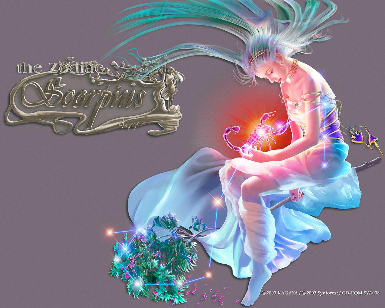 Kagaya Fantasy Art - Scorpio Zodiac , HD Wallpaper & Backgrounds