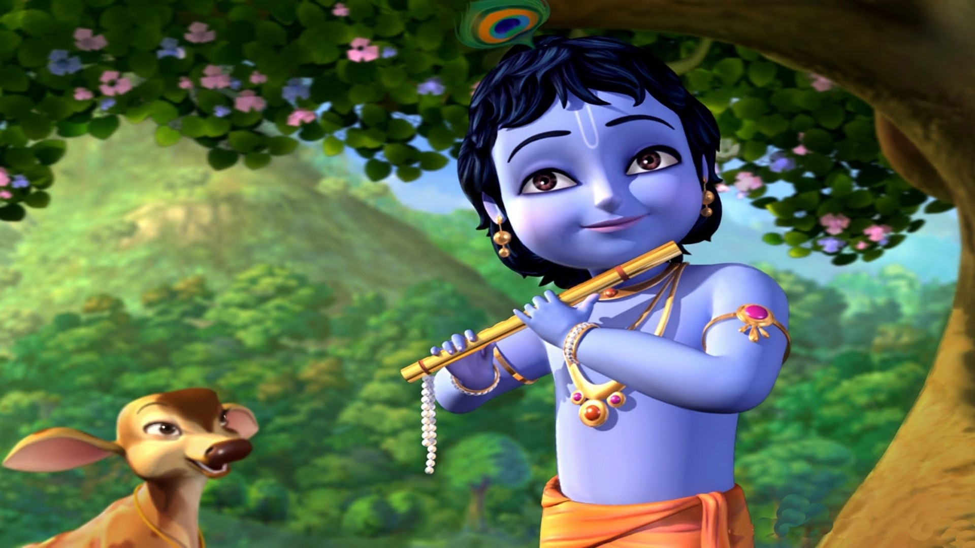 Lord Krishna Cartoon High Definition Wallpapers Little