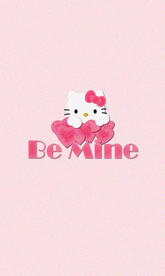 Hello Kitty Pink Love Iphone Wallpaper Lock Screen Cartoon