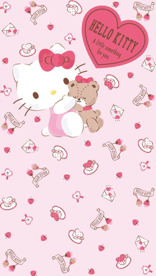 Valentines Wallpapers Pink Wallpaper Hello Kitty