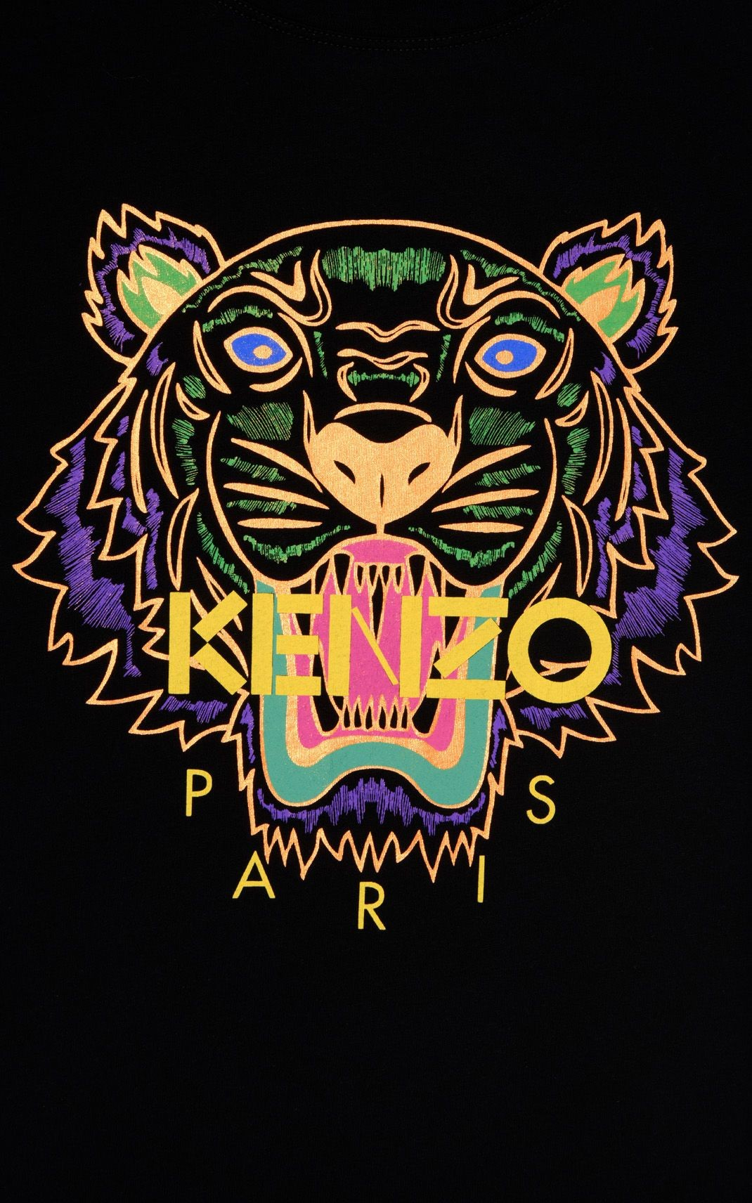 Tigers Art Iphone Wallpaper Awesome Black Holiday Capsule Kenzo Logo 1010511 Hd Wallpaper Backgrounds Download