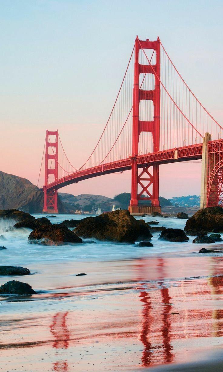 Golden Gate Bridge San Francisco Bay Iphone Wallpaper Golden