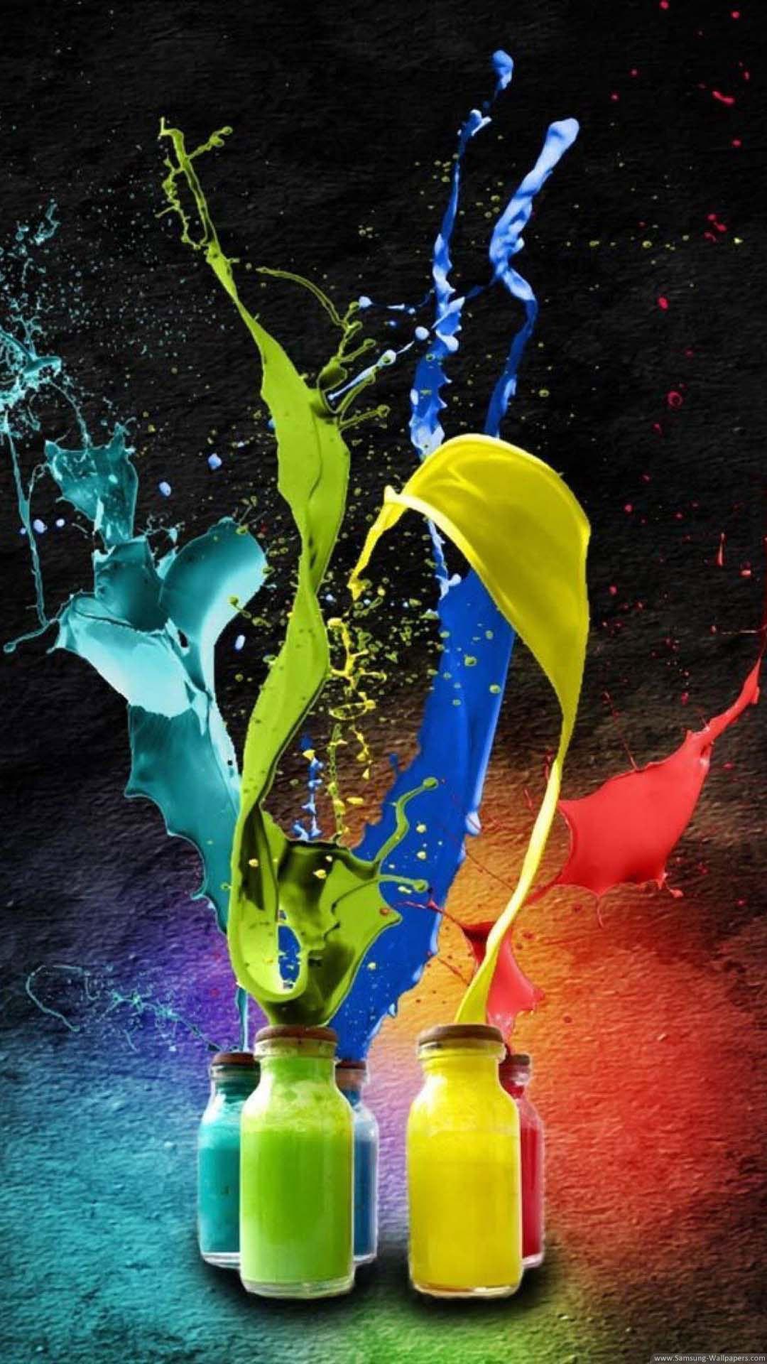 Galaxy S4 Hd Cool Color Desktop Samsung Wallpaper Sfondi