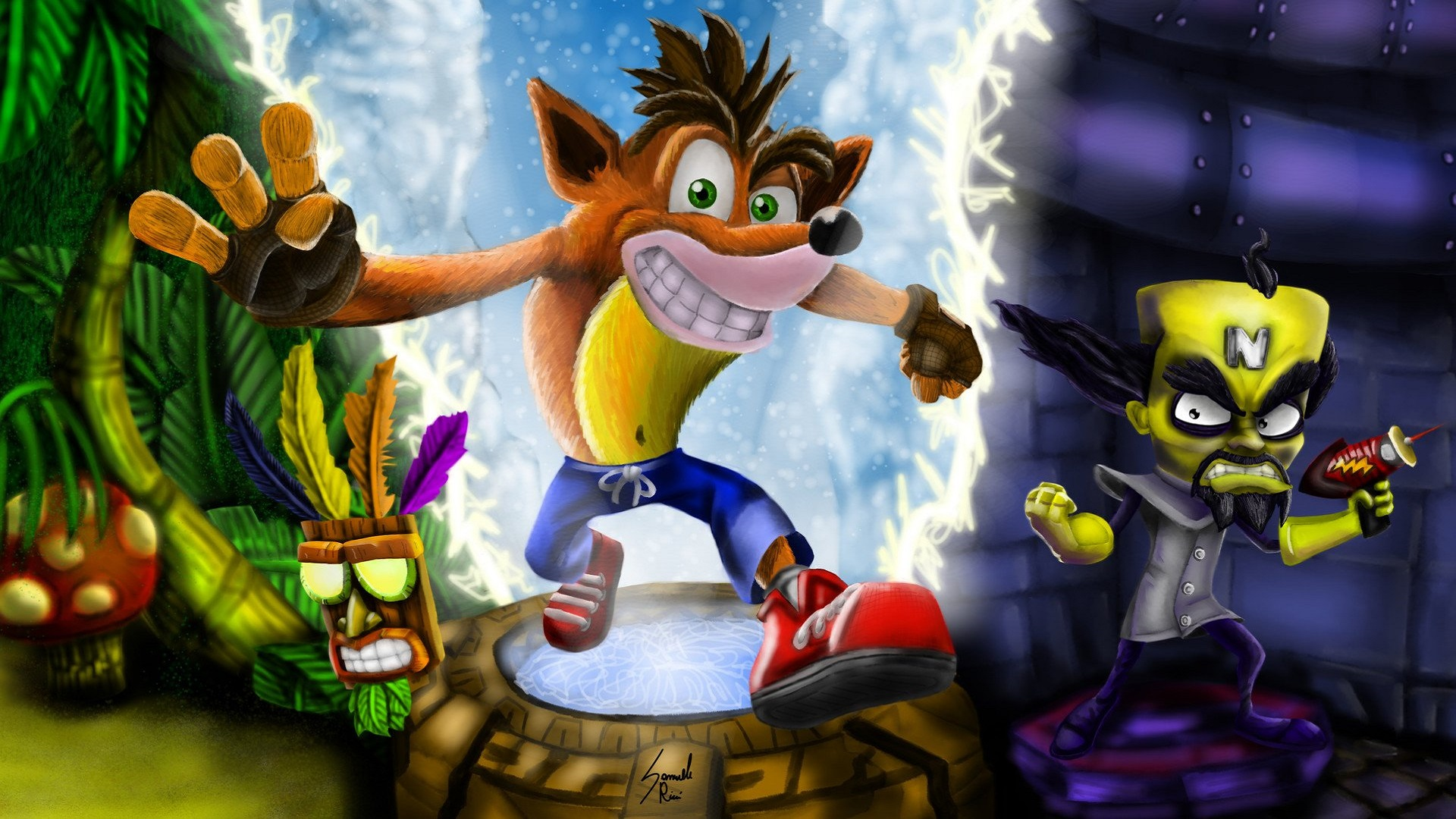 Crash Bandicoot Hd Wallpaper Crash Bandicoot N Sane Trilogy