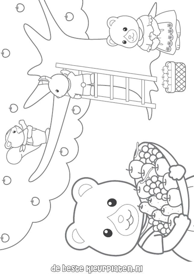 Calico Critters Coloring Page Sylvanian Families003 - Calico Critter Boat Coloring Page , HD Wallpaper & Backgrounds