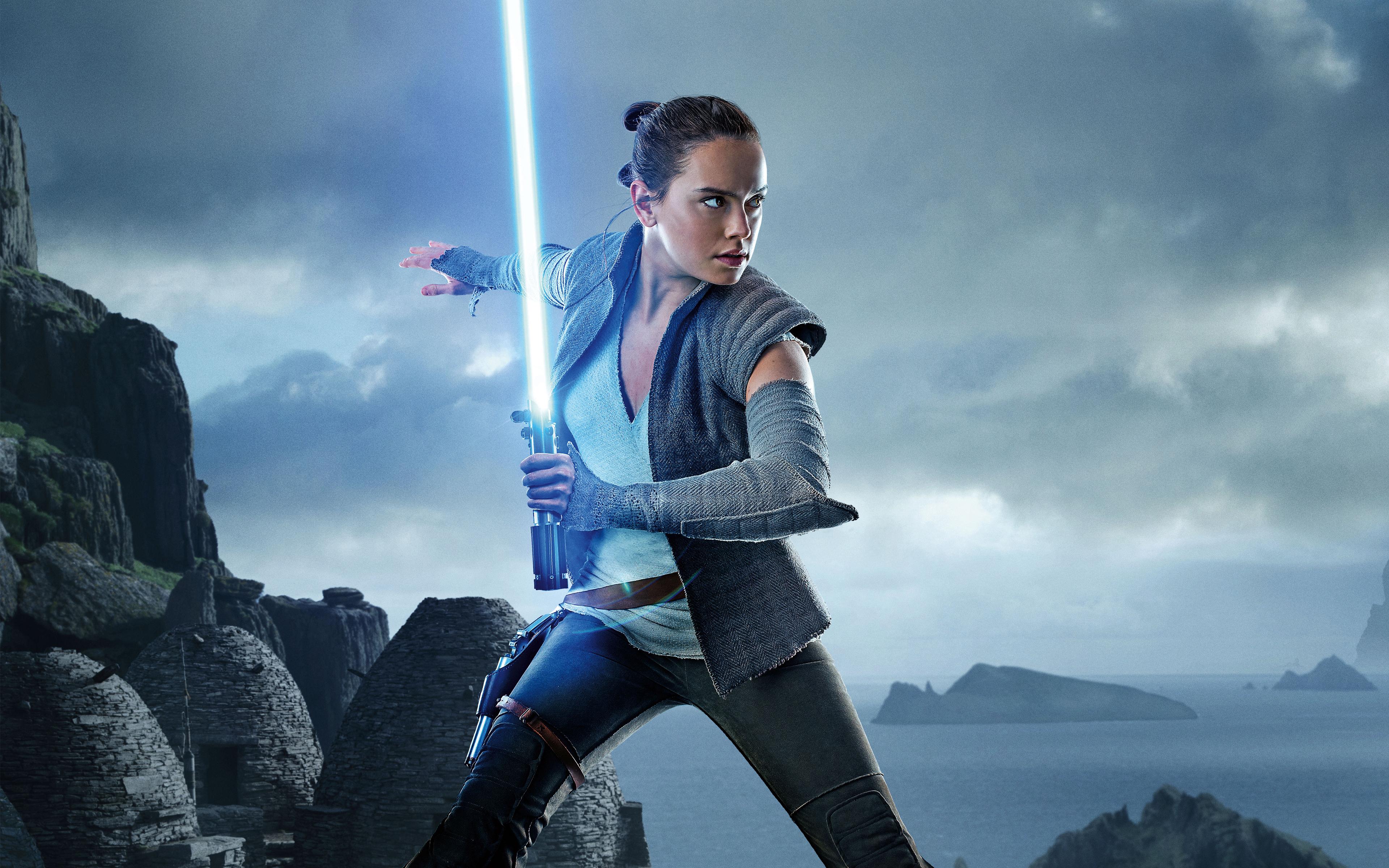 Rey Star Wars - Star Wars Rey Fighting , HD Wallpaper & Backgrounds