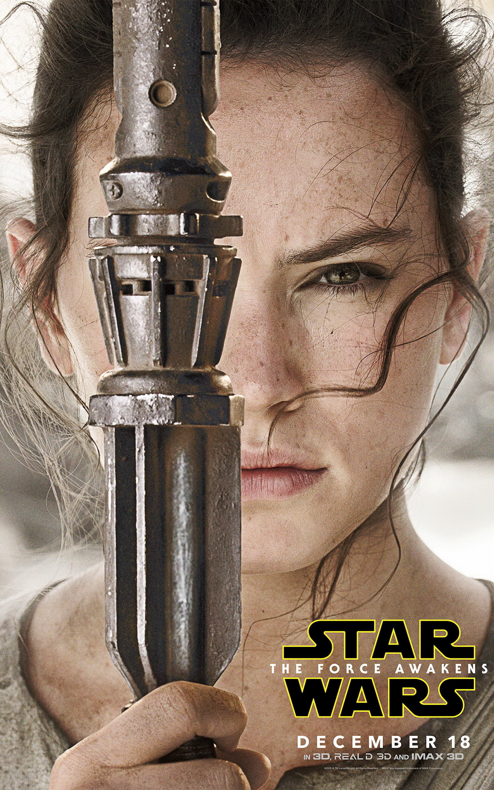 Top On A Star Wars 7 Rey Poster 1020986 Hd Wallpaper