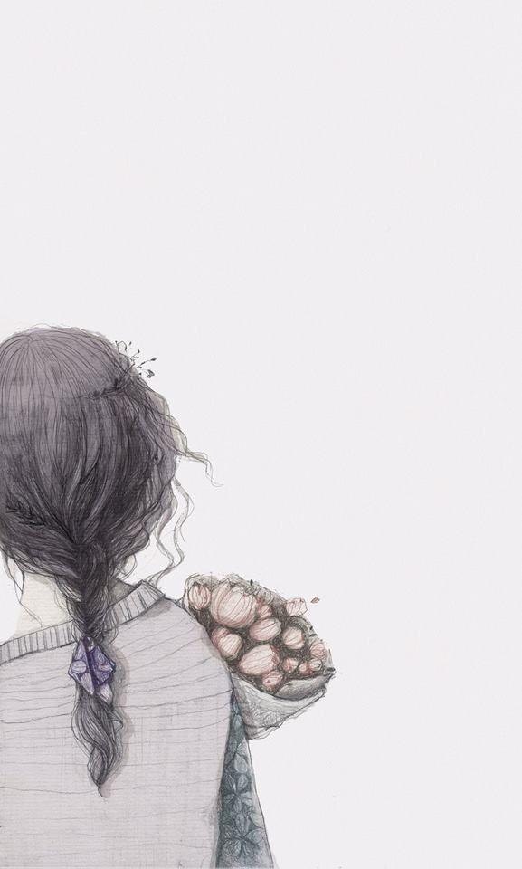 Nắng Little House Manga Girl Sad, Sad Girl Art, Sad - Ảnh Cô Gái Quay Lưng Anime , HD Wallpaper & Backgrounds