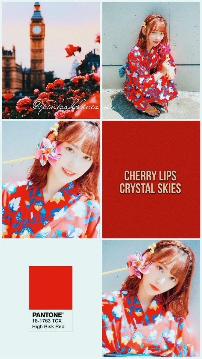 Miyawaki Sakura Red Theme Wallpaper You Are Free Collage