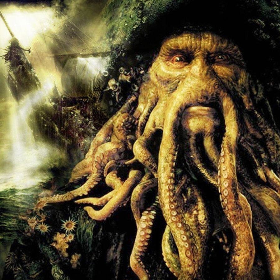 Davy Jones Wallpapers - Pirates Of The Caribbean Octopus Man , HD Wallpaper & Backgrounds