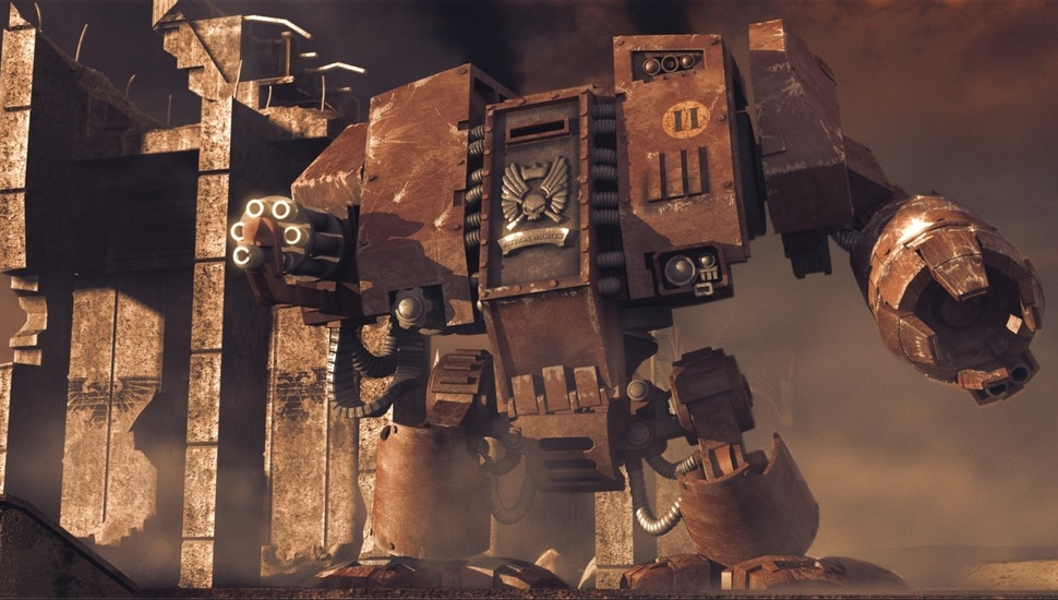Dreadnought, Warhammer, 40k, Dawn Of War, Blood Ravens - Warhammer 40k Wallpaper Blood Raven , HD Wallpaper & Backgrounds