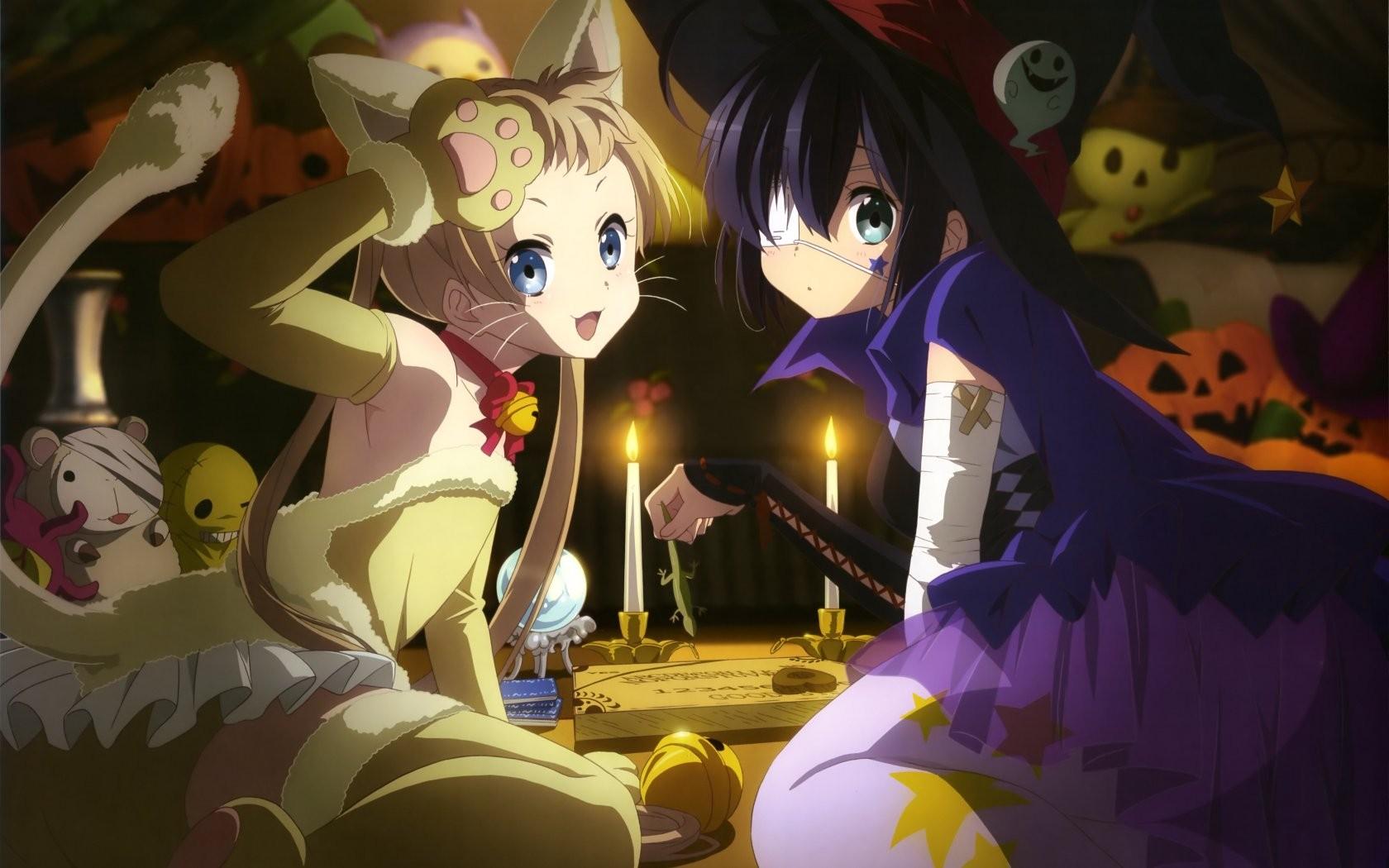 #animal Ears, #catsuits, #blue Eyes, #takanashi Rikka, - Chuunibyou Demo Koi Ga Shitai , HD Wallpaper & Backgrounds