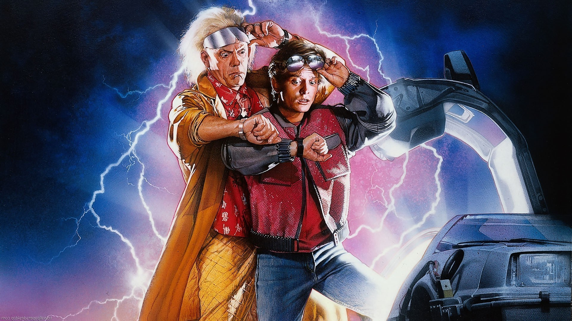 Back To The Future Hd Wallpaper Back To Future Time Travel