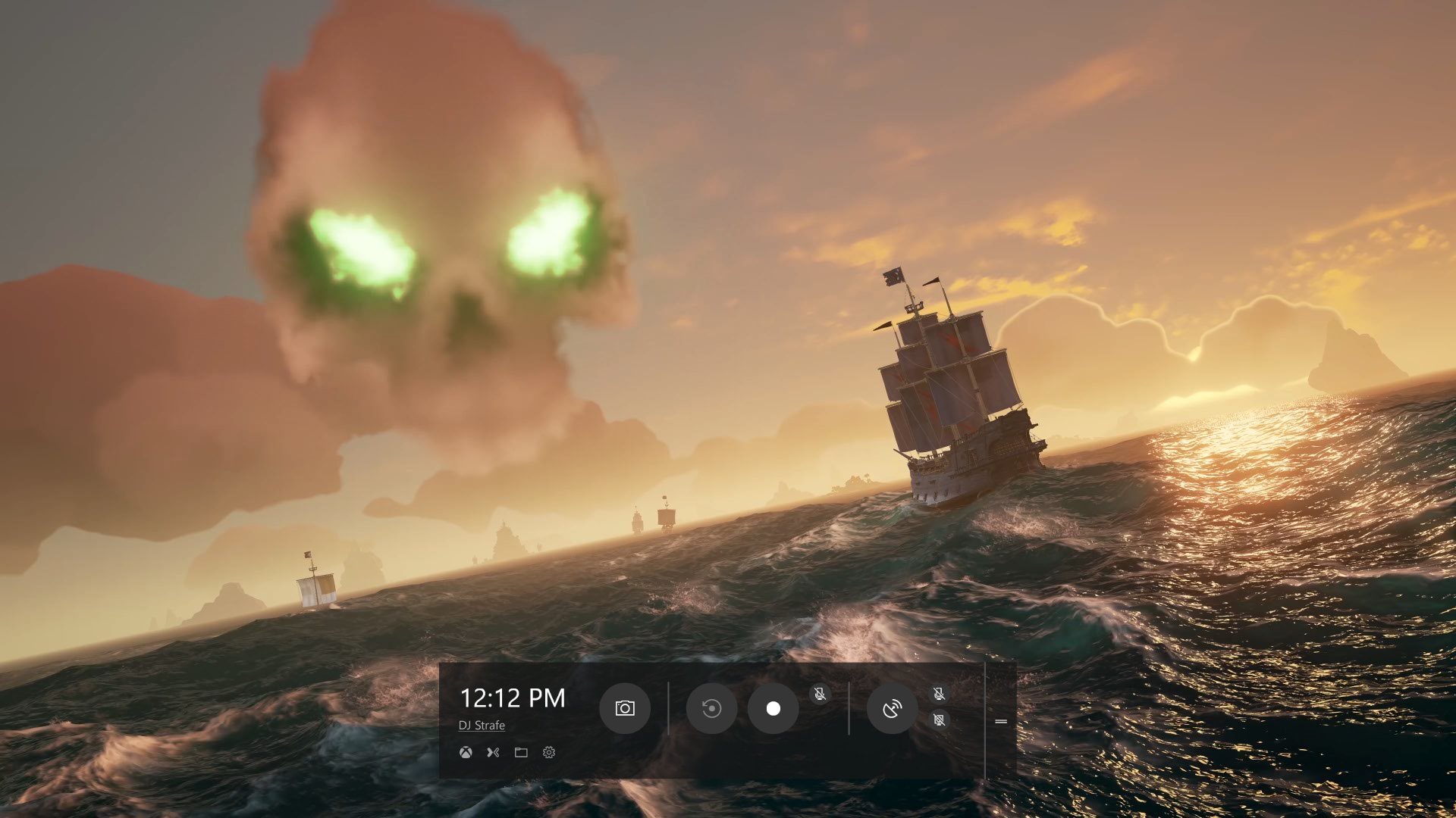 Game Bar In Windows 10 Shown With The Dark Theme Sea Of Thieves