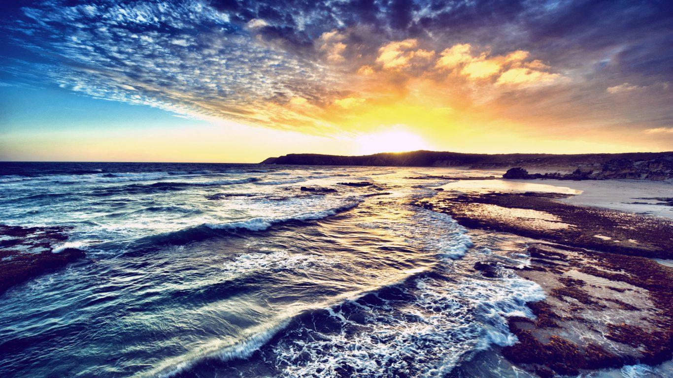103 1033235 nature sea sunset sky sunrise wave desktop wallpaper