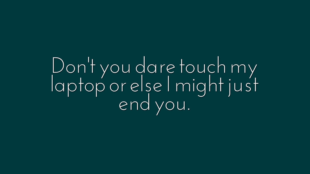 #tlmq8442 Dont Touch My Computer Wallpaper - Parallel , HD Wallpaper & Backgrounds