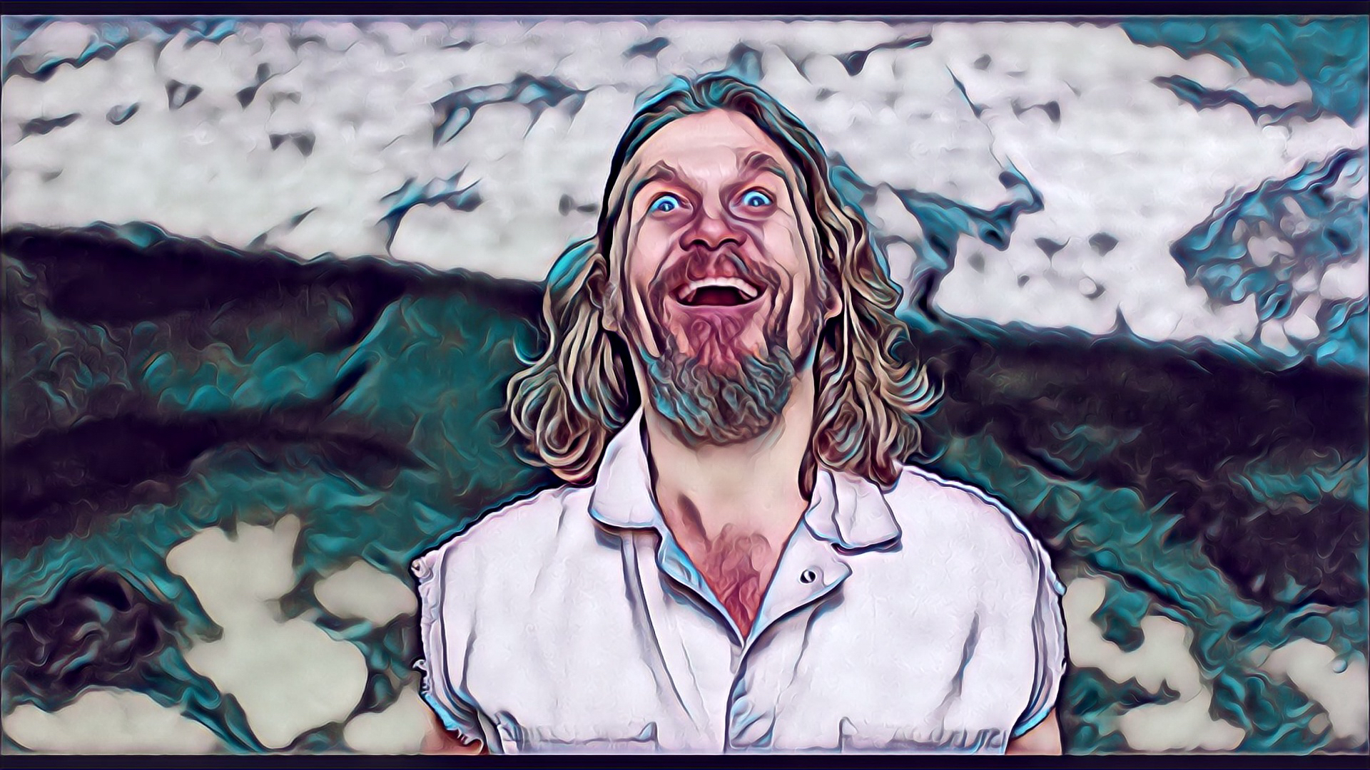 I Produced These Images With The Amazing Painnt App - Big Lebowski Drawing The Dude , HD Wallpaper & Backgrounds