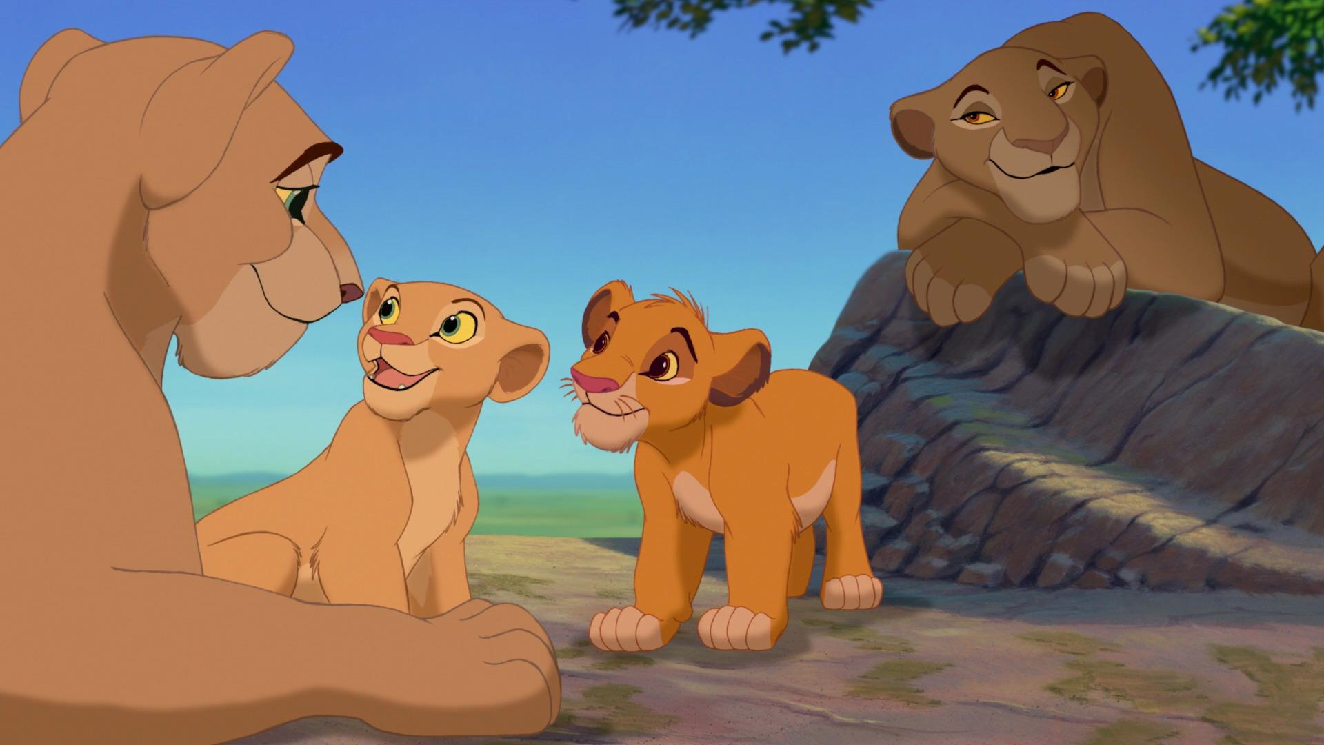 Lion King Disneyscreencaps - King Simba And Nala Cubs , HD Wallpaper & Backgrounds
