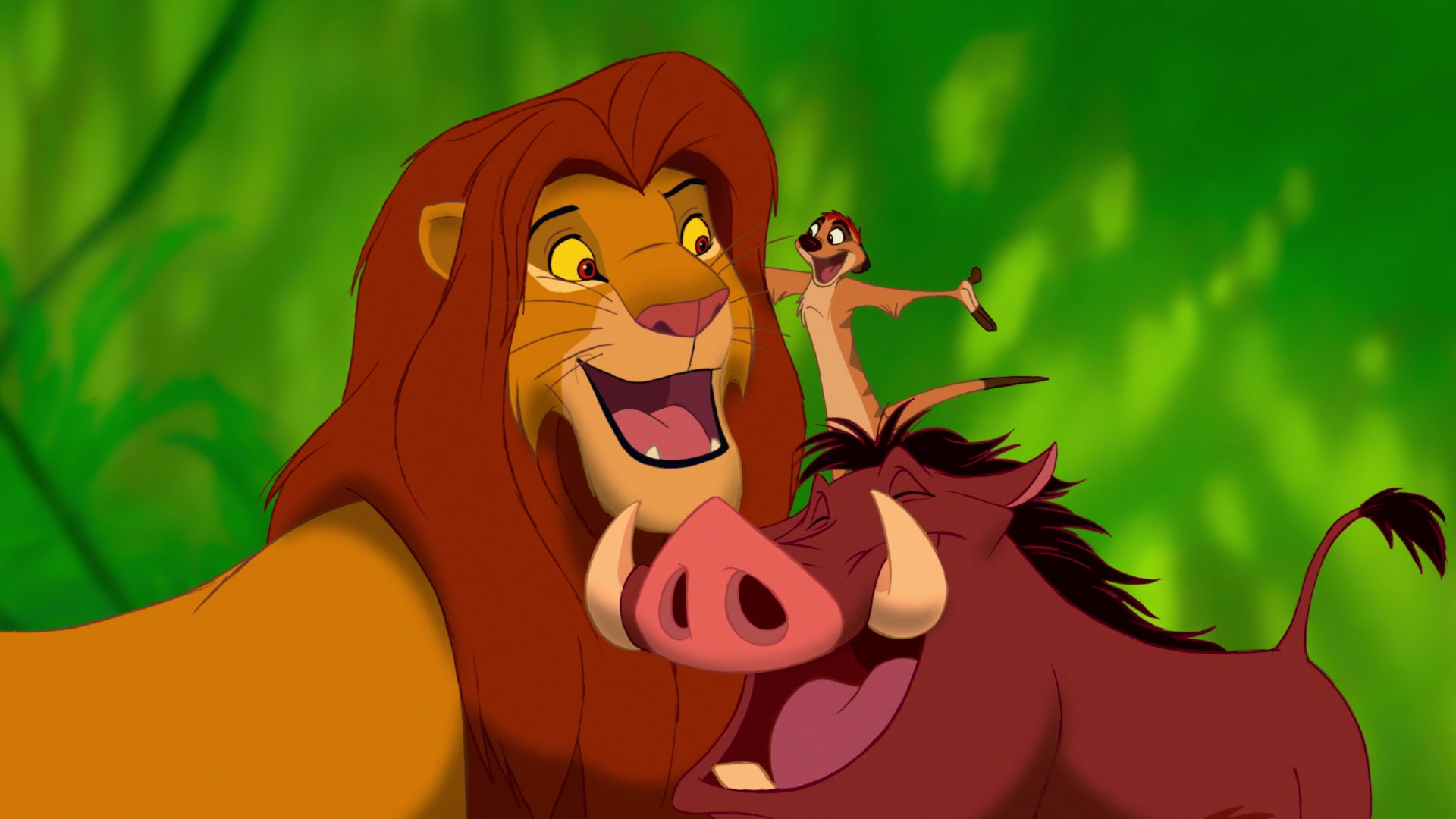 The Lion King - Lion King Timon Pumbaa And Simba , HD Wallpaper & Backgrounds
