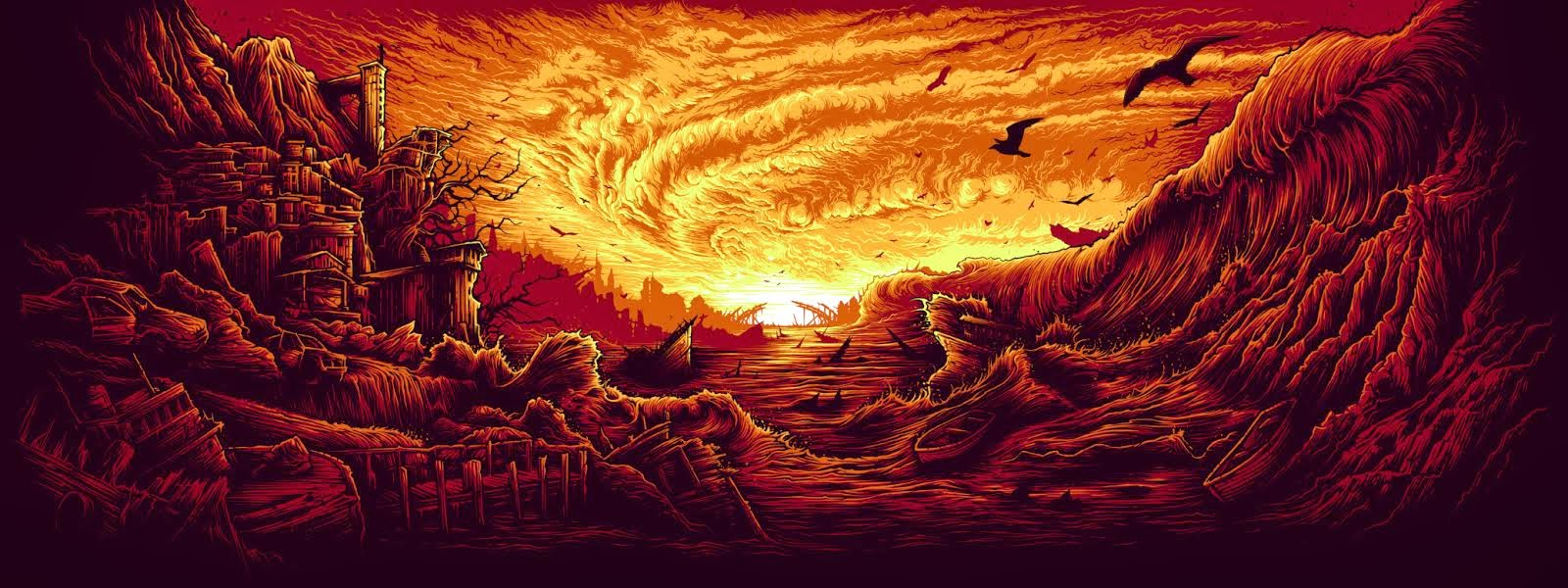View Dan Mumford Fire In The Sky Print Dan Mumford This Is The End 1044902 Hd Wallpaper Backgrounds Download