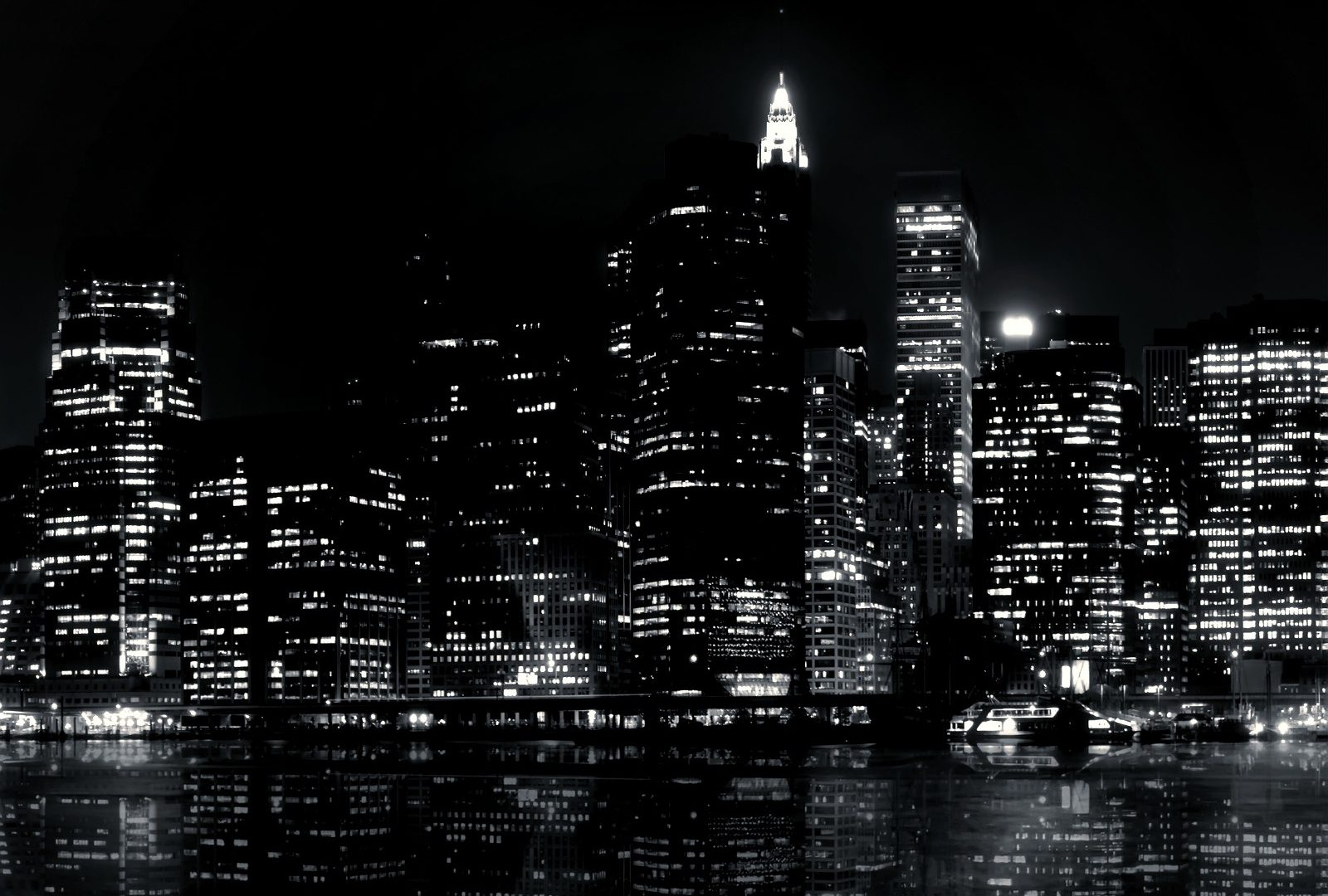 Escape From New York Wallpaper Black And White City