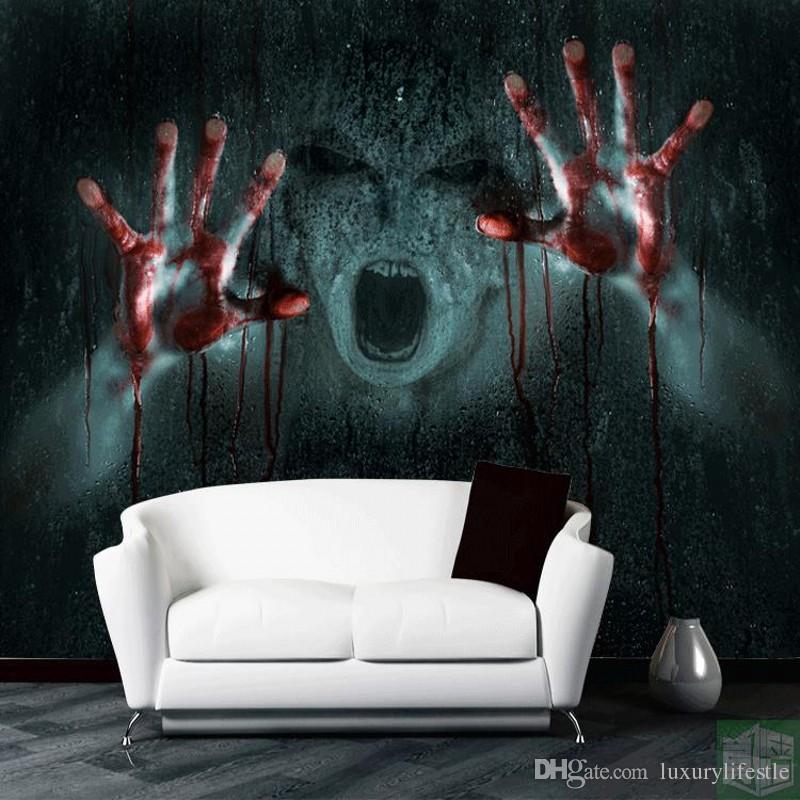 3d Stereo Escape Offbeat Eerie Wallpaper Hands Blood