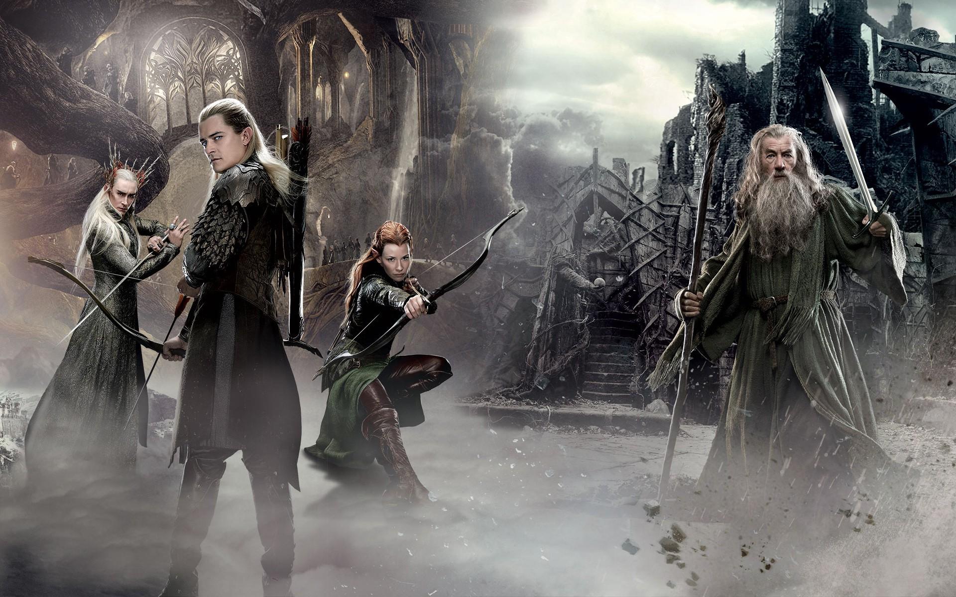 Gandalf Legolas Tauriel Elves Wizard Thranduil Lord Of The