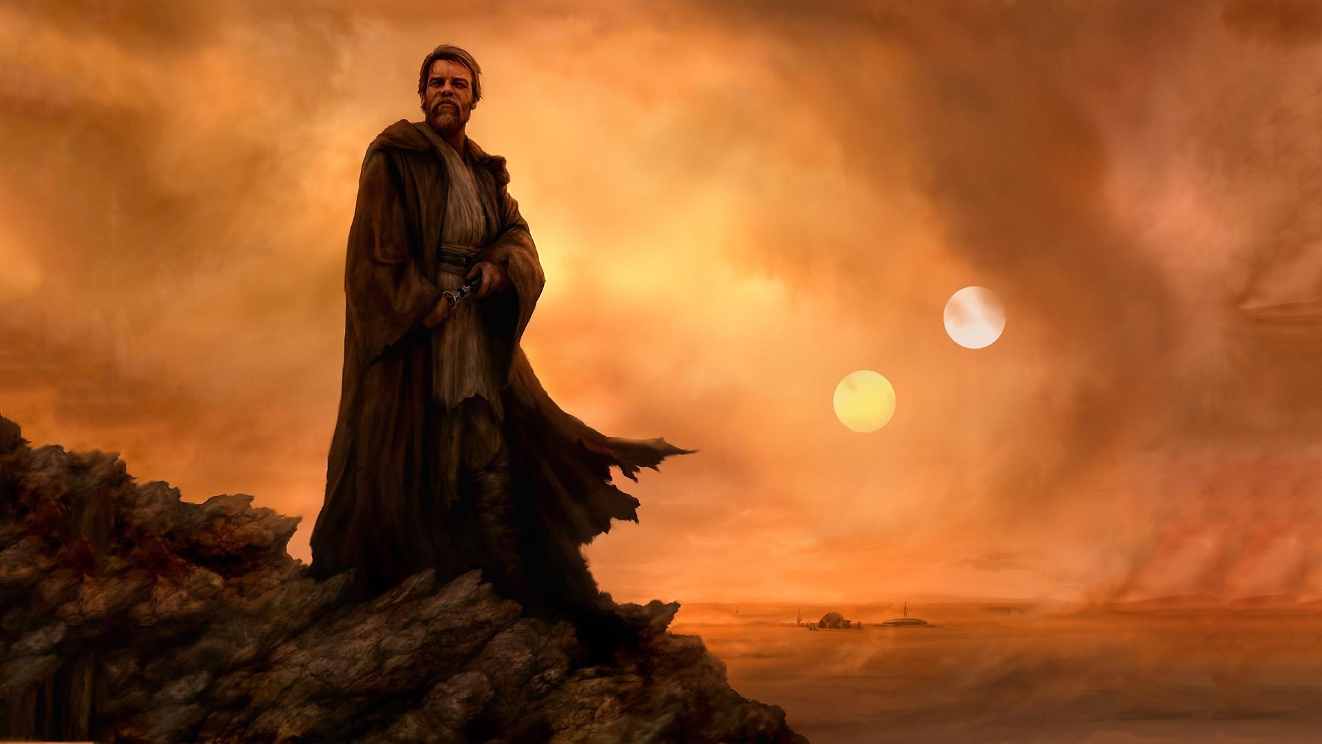 Star Wars Jedi Obi Wan Kenobi Tatooine Obi Wan Kenobi Art 1048149 Hd Wallpaper Backgrounds Download