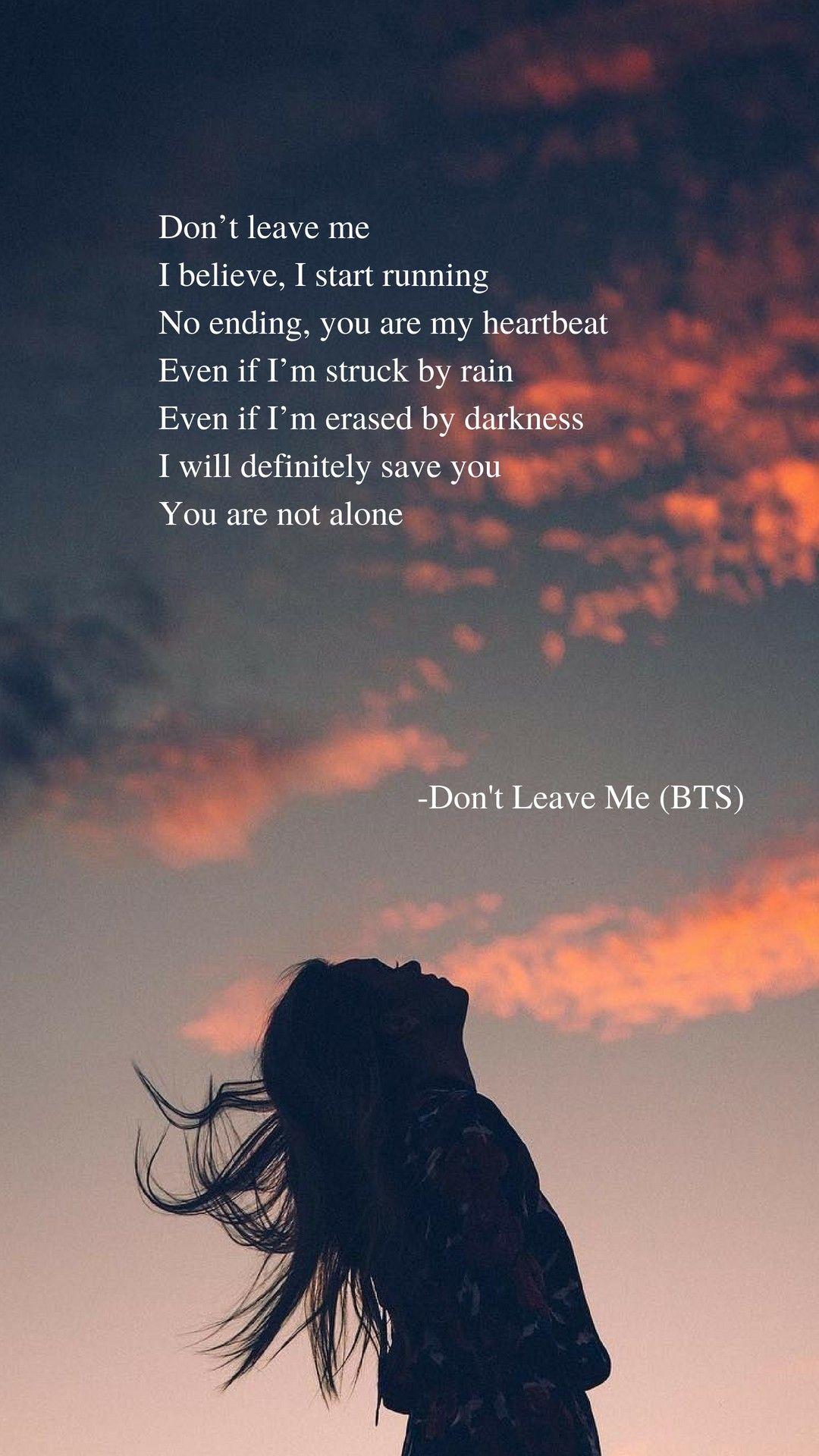Don T Leave Me Lyrics Wallpaper Bts Don T Leave Me Lyrics