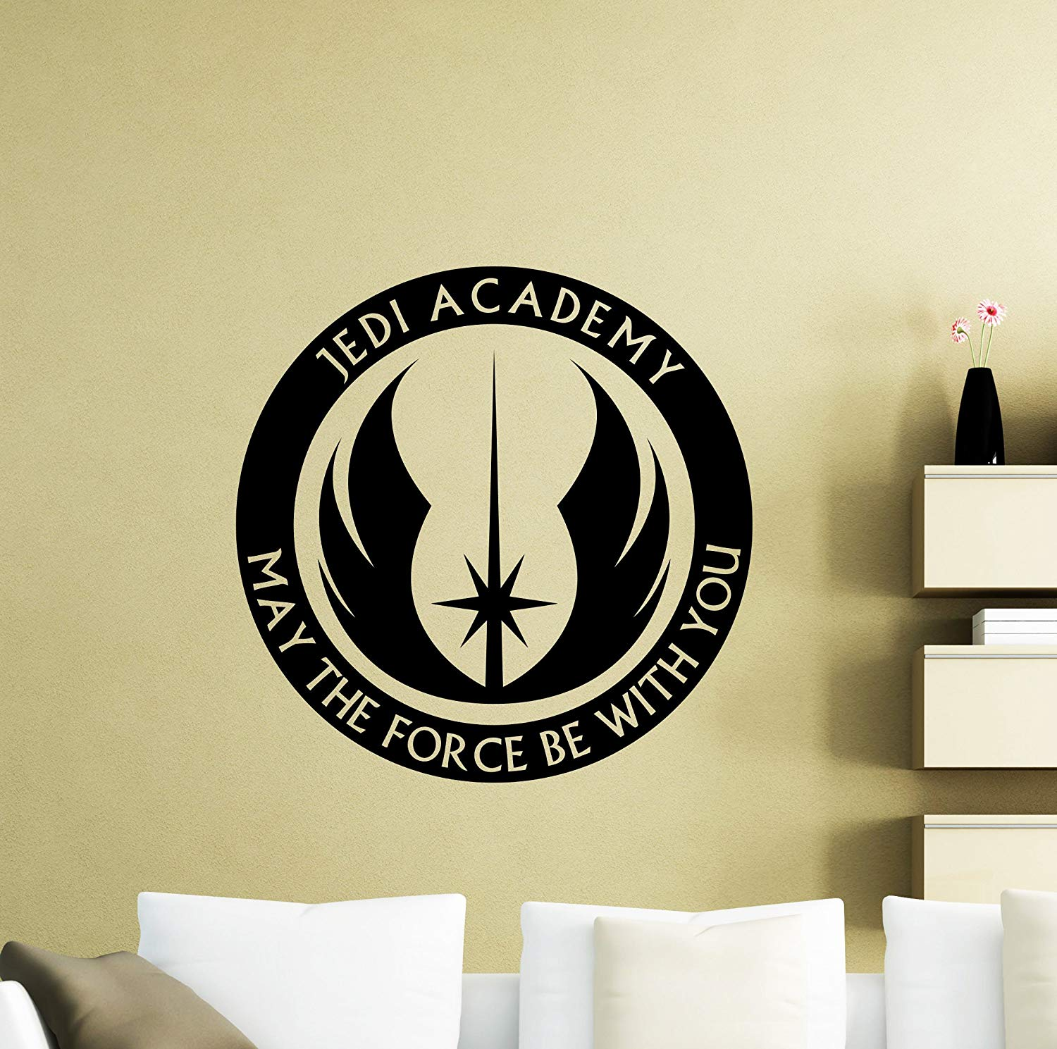 Star Wars Wall Vinyl Decal Jedi Academy May The Force Jedi Order