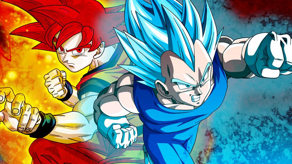 Download Goku Ssj God Y Vegeta Ssj Blue 1058615 Hd