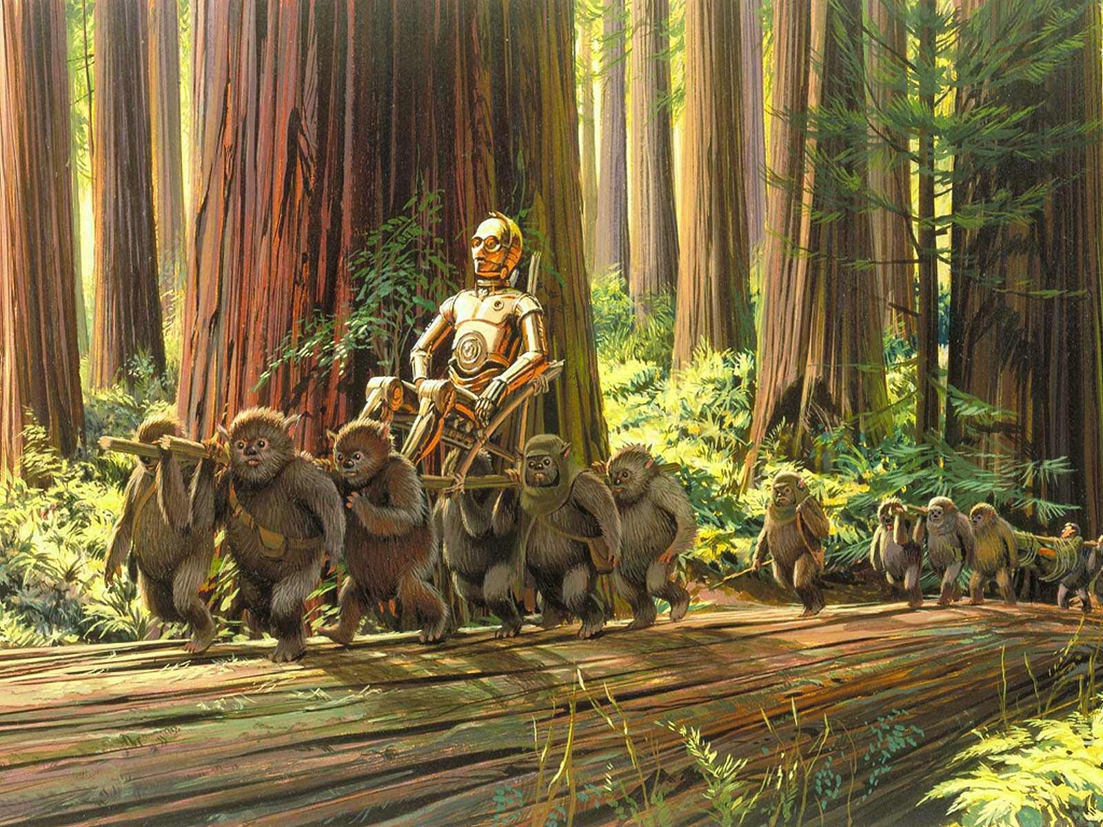 Star Wars Ewok Forest 1061320 Hd Wallpaper Backgrounds Download