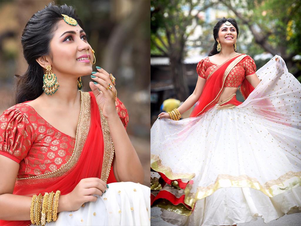 Meghali Tamil Actress Half Saree 1061565 Hd Wallpaper Backgrounds Download