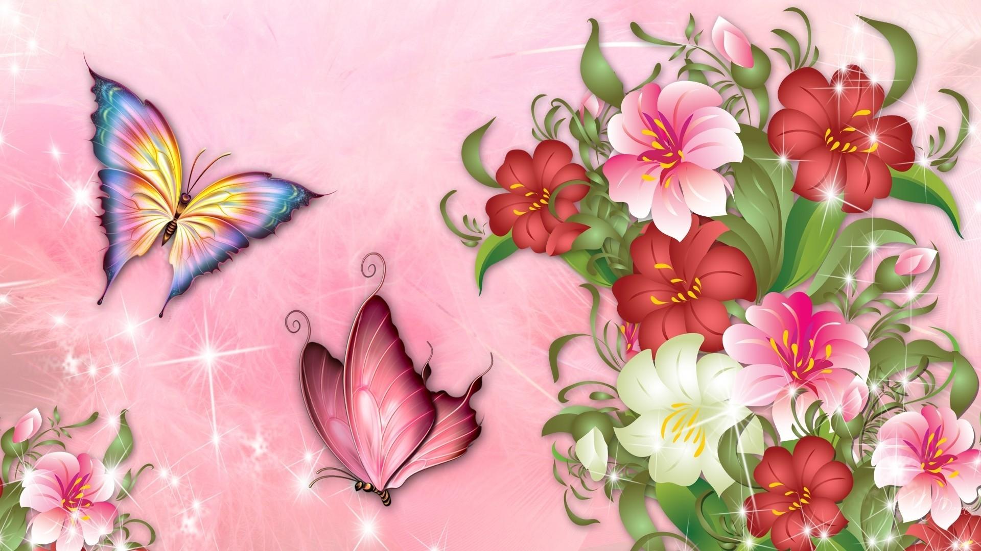 Pink Summer Flower Theme , HD Wallpaper & Backgrounds