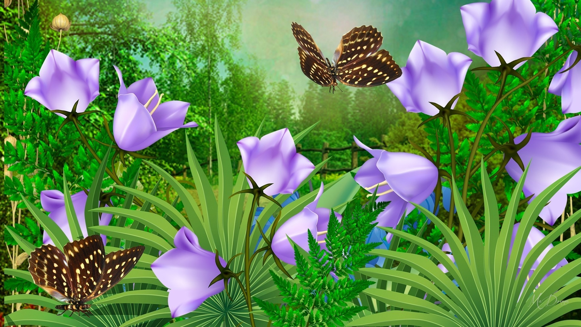 Firefox Wallpaper Themes  - Flower Wallpaper With Butterfly 4k , HD Wallpaper & Backgrounds