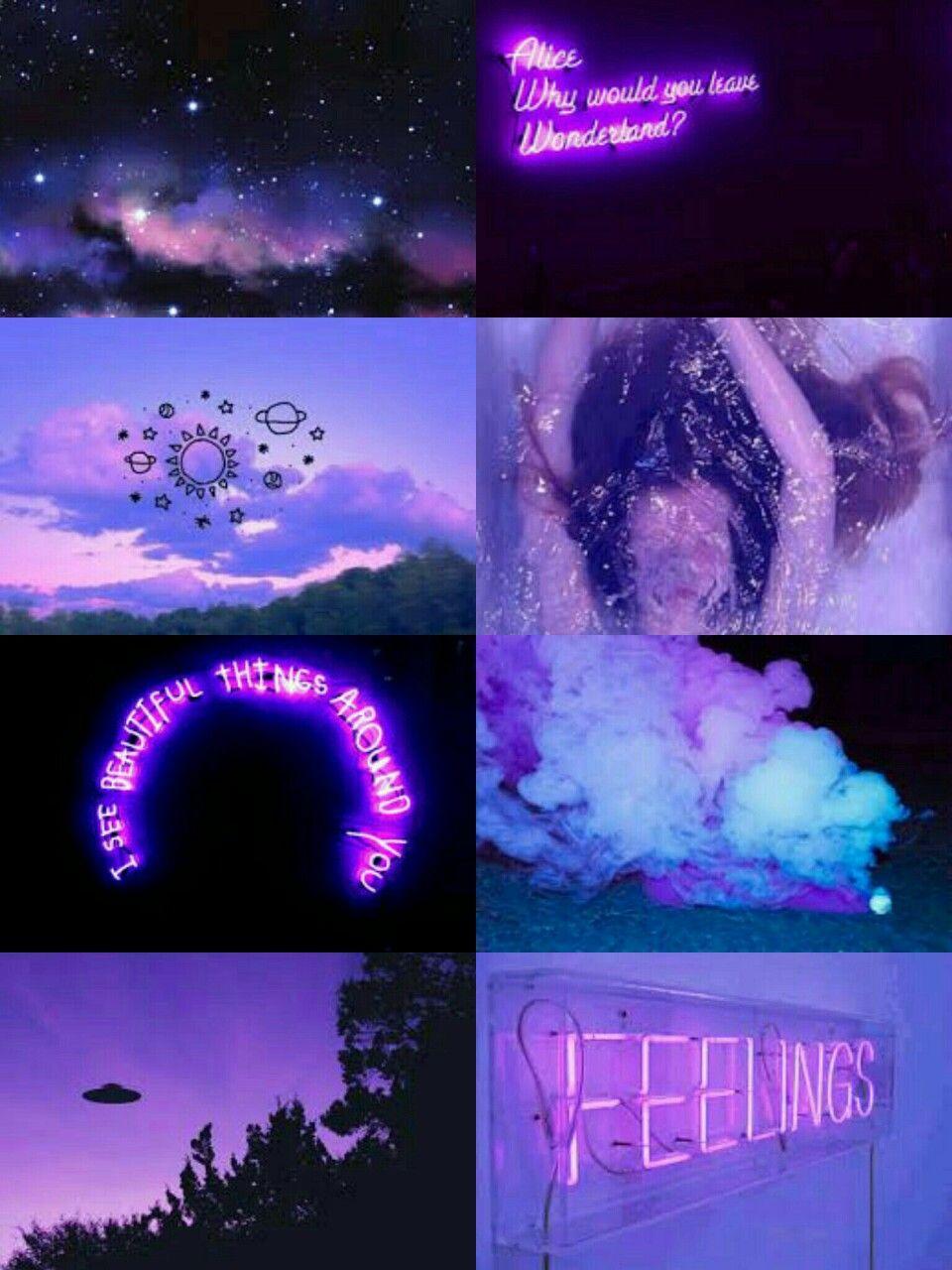 Aesthetic City Night Lights Iphone Purple Aesthetic 1062858