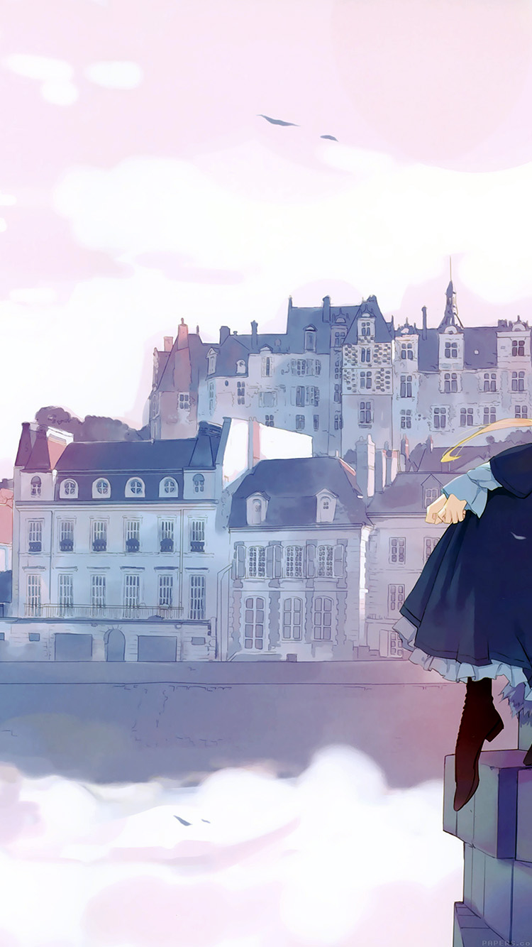Anime City Iphone Wallpaper Hd , HD Wallpaper & Backgrounds