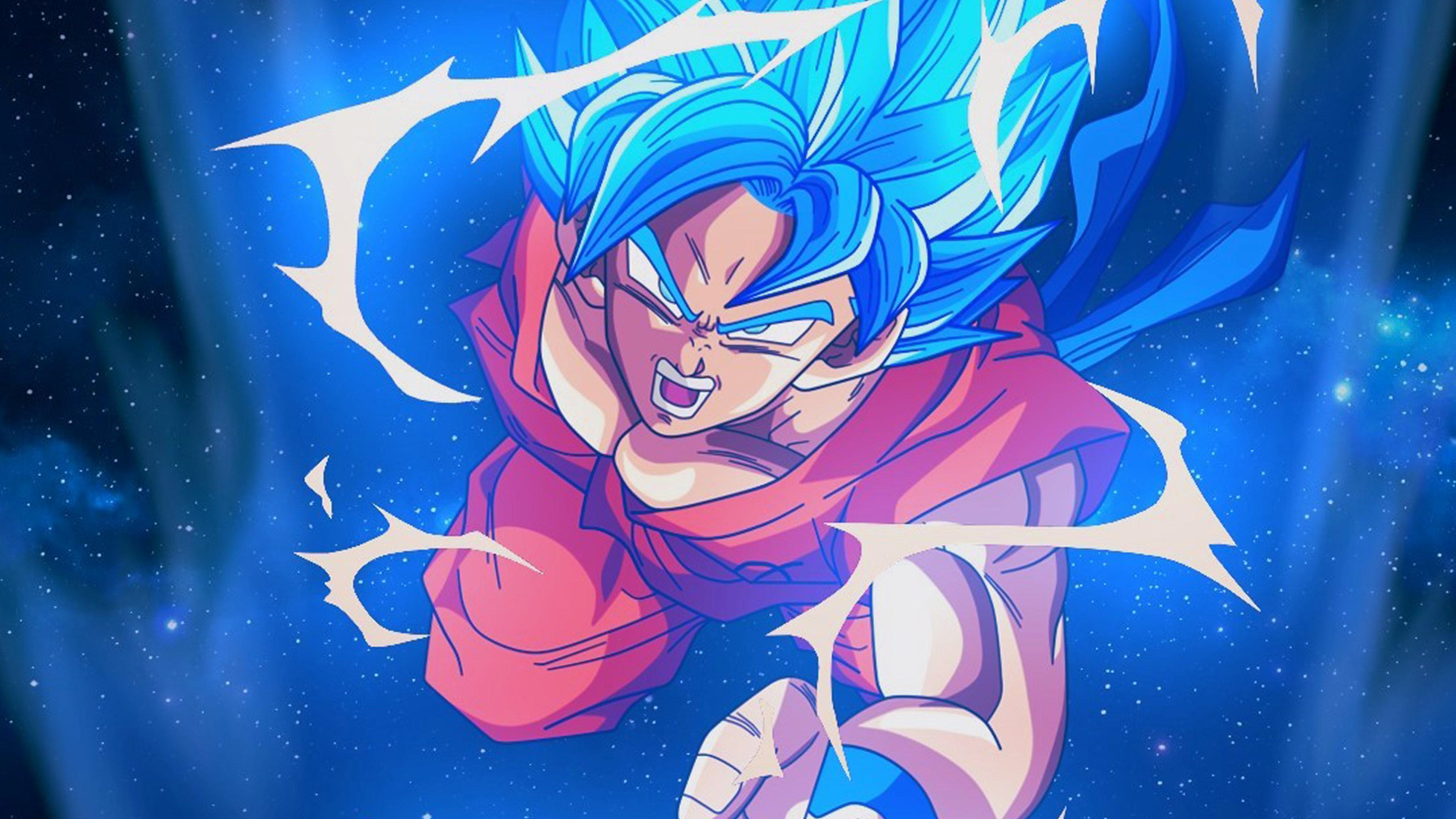 Bc54 Dragonball Goku Blue Art Illustration Anime Wallpaper