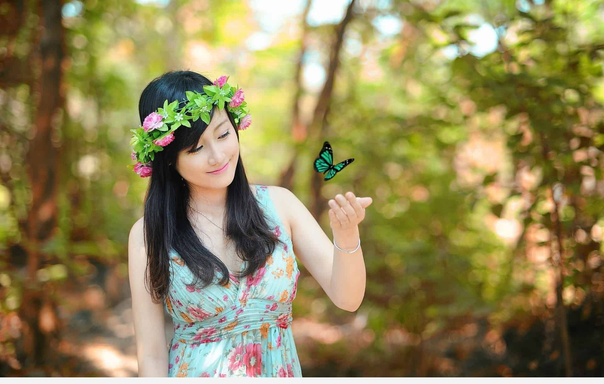 Butterfly Girl Wallpapers - Butterfly Image With Girl , HD Wallpaper & Backgrounds