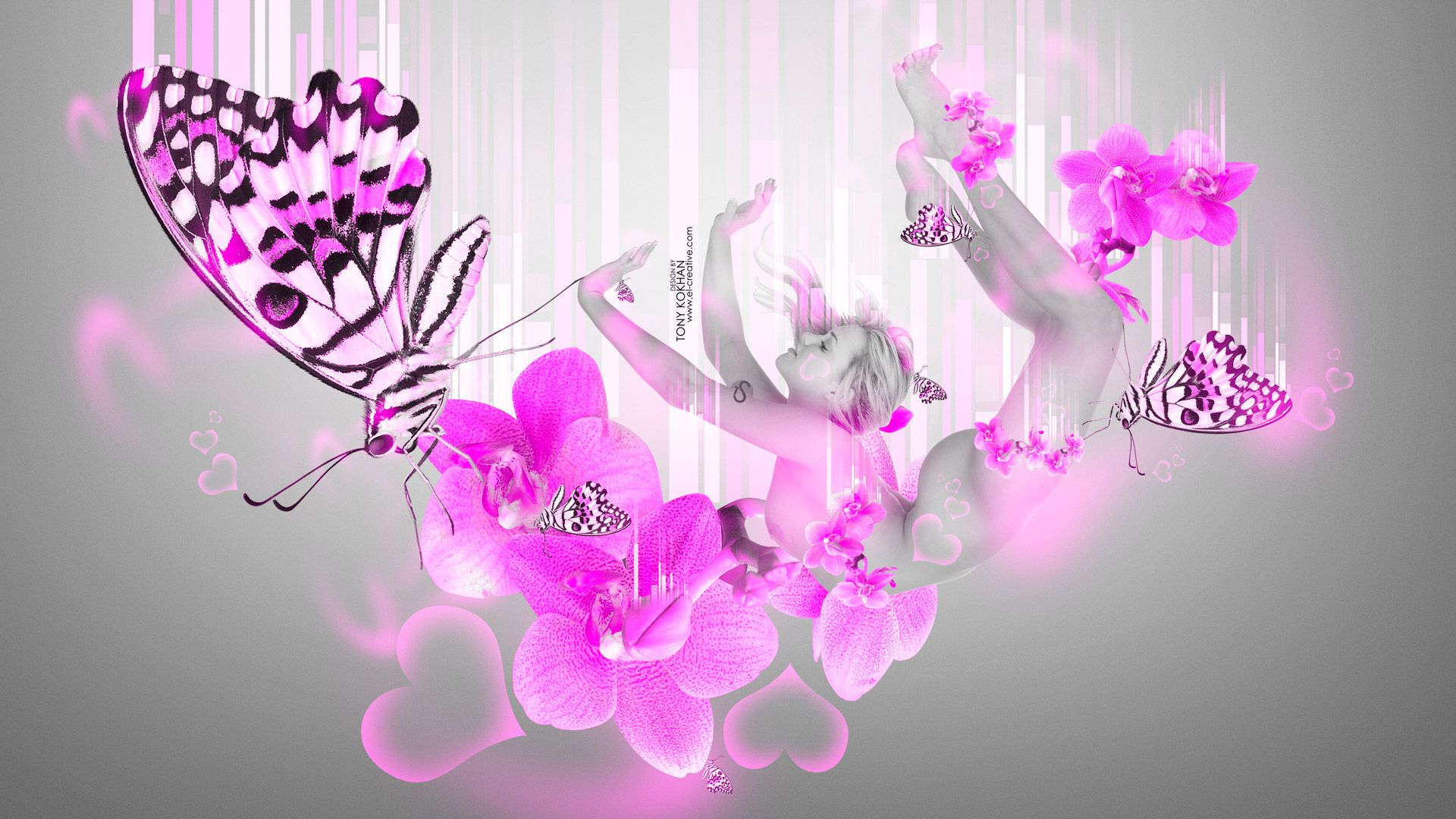 Neon Butterfly Backgrounds - Butterfly-amazing Paintings-29 , HD Wallpaper & Backgrounds