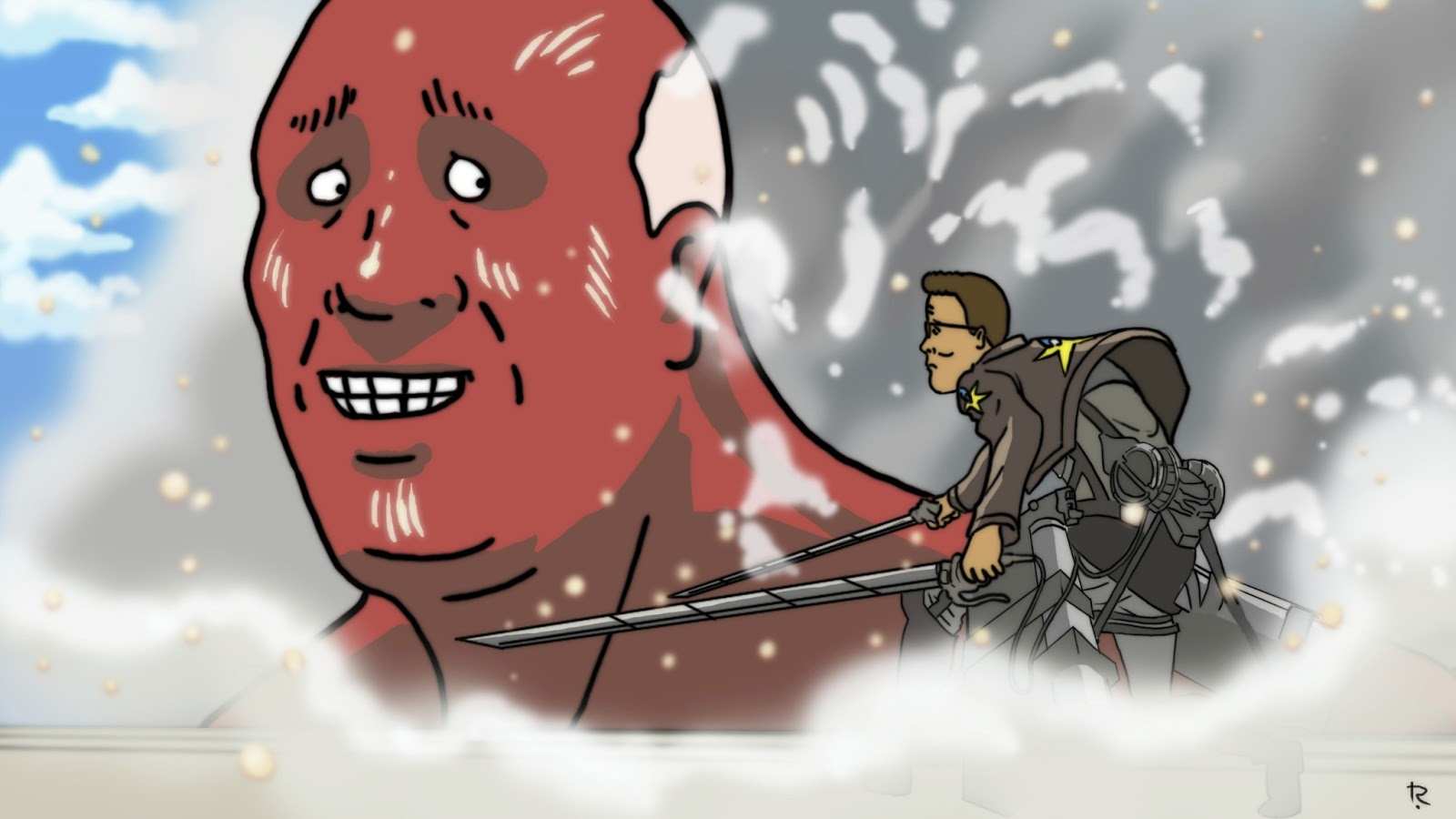 Attack On Arlen Attack On Titan Vs King Of The Hill Attack On