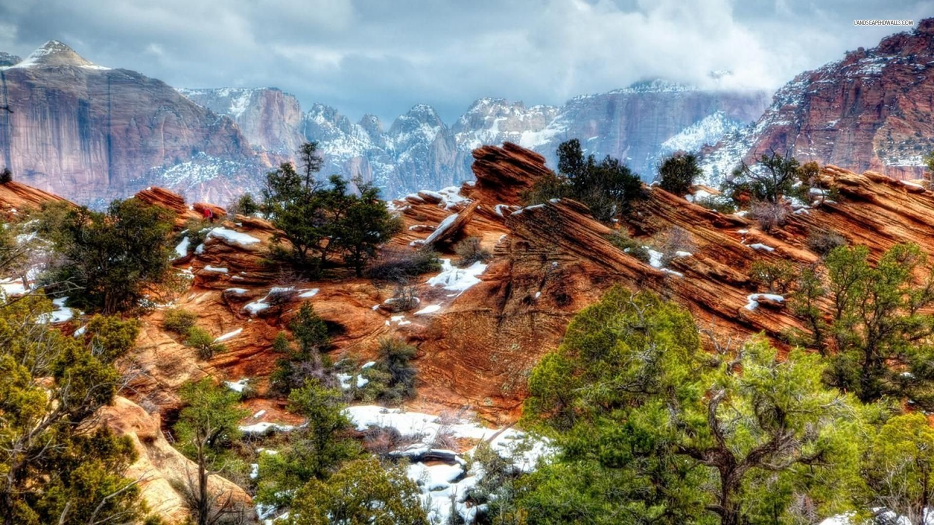 Zion National Park Hd Wallpaper Summit 1074588 Hd Wallpaper